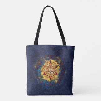 Star Shine Blue and Gold Bag トートバッグ