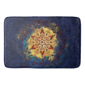 Star Shine in Gold and Blue Bath Mat バスマット
