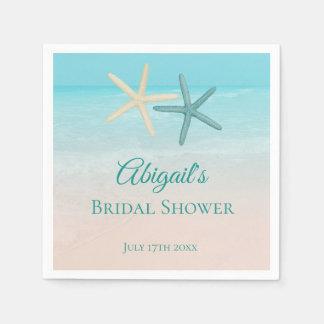 Starfish Couple Beach Wedding Personalized スタンダードカクテルナプキン