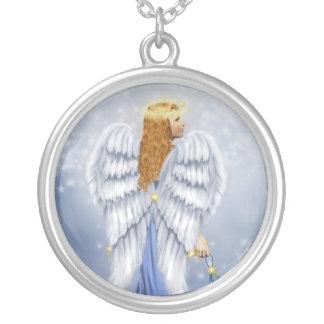Starlit天使 シルバープレートネックレス