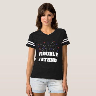 Stars Proudly I Stand Dark T-shirt Tシャツ