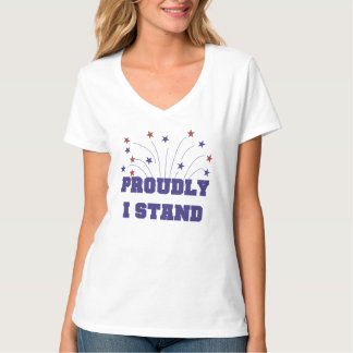 Stars Proudly I Stand T-shirt Tシャツ