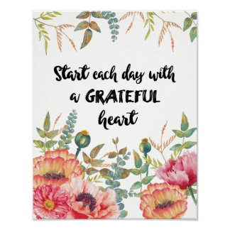 Start Each Day with a Grateful Heart ポスター