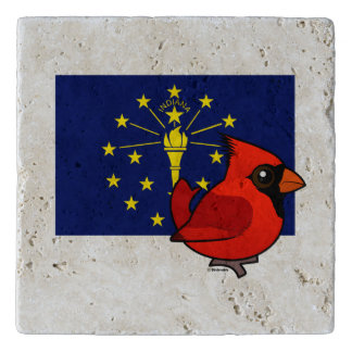 State Birdorable of Indiana: Northern Cardinal トリベット