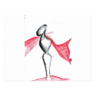 Statuaの冴えない赤 ポストカード