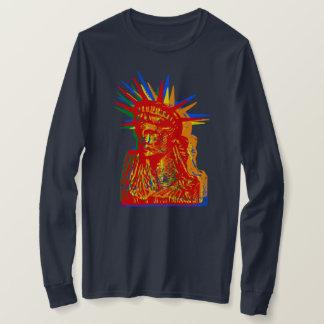 STATUE OF LIBERTY RAINBOW POP ART Tシャツ