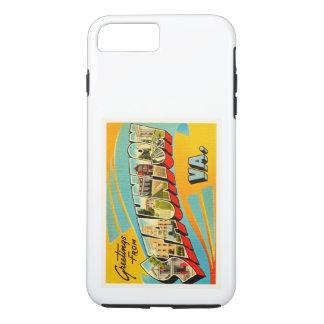 StauntonヴァージニアVAの古いヴィンテージ旅行郵便はがき iPhone 8 Plus/7 Plusケース