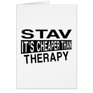 STAVそれはセラピーより安いです カード