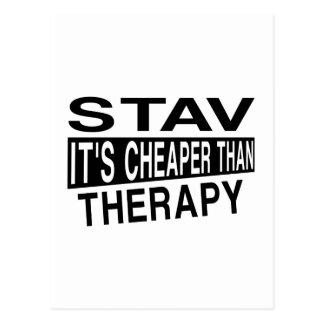 STAVそれはセラピーより安いです ポストカード