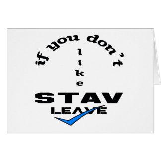 Stavの許可を好まなければ カード