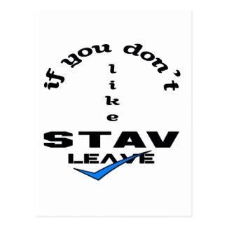 Stavの許可を好まなければ ポストカード