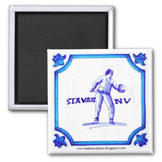 Stavast Bekkesnijderのオランダの青いタイルの磁石 マグネット