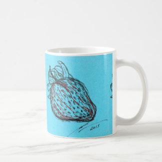 Stawberryの青いマグ コーヒーマグカップ