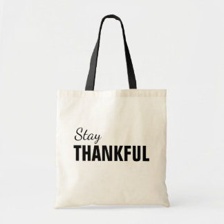 Stay Thankful Thanksgiving Tote トートバッグ