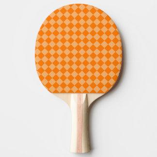 STaylor著オレンジ組合せのダイヤモンドパターン 卓球ラケット