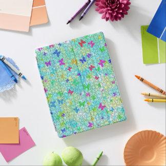 STaylor著パズルの蝶そしてデイジーカラフル iPadスマートカバー