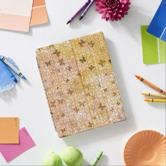 STaylor著パズルの蝶そしてデイジー茶色 iPadスマートカバー