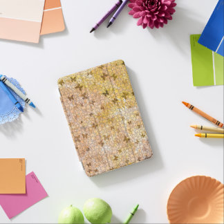 STaylor著パズルの蝶そしてデイジー茶色 iPad Miniカバー