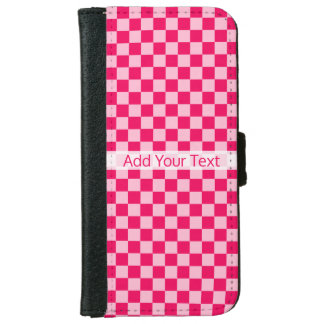 STaylor著ピンクの組合せのクラシックなチェッカーボード iPhone 6/6s ウォレットケース