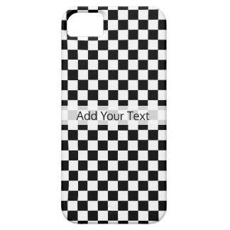 STaylor著白黒クラシックなチェッカーボード iPhone SE/5/5s ケース