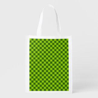 STaylor著緑の組合せのクラシックなチェッカーボード エコバッグ