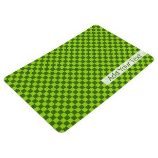 STaylor著緑の組合せのクラシックなチェッカーボード フロアマット