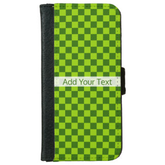 STaylor著緑の組合せのクラシックなチェッカーボード iPhone 6/6s ウォレットケース