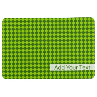 STaylor著緑の組合せのダイヤモンドパターン フロアマット