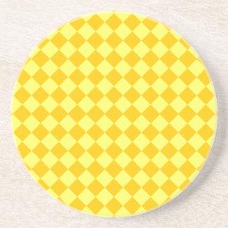 STaylor著黄色い組合せのダイヤモンドパターン コースター