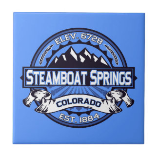 Steamboat Springsのロゴのタイル タイル