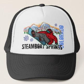Steamboat Springsコロラド州のスノーボーダーの断片の帽子 キャップ