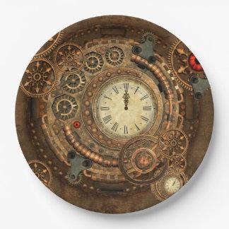 Steampunkのすばらしい時計仕掛け ペーパープレート