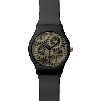 Steampunkのはめば歯車May28thの腕時計 腕時計