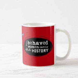 Steampunkのアルマジロのこうもり、赤、行儀が良い女性 コーヒーマグカップ