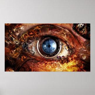 Steampunkのカメラの目 ポスター