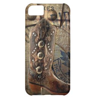 Steampunkのギアの西欧諸国のカウボーイ・ブーツ iPhone5Cケース