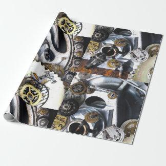 steampunkのギアの金属のヴィンテージ腕時計のファンタジーのサイエンスフィクション ラッピングペーパー