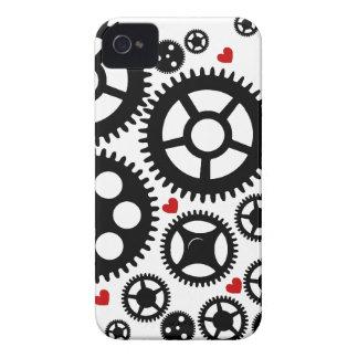 Steampunkのギア-ブラックベリーのはっきりしたな箱 Case-Mate iPhone 4 ケース