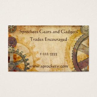 Steampunkのコグおよびギア 名刺