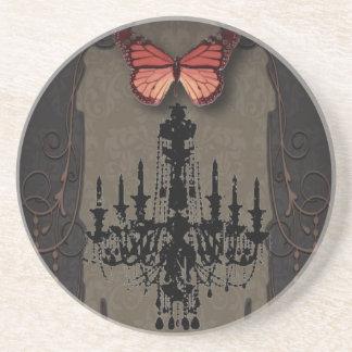 steampunkのゴシックの蝶パリのヴィンテージのシャンデリア コースター