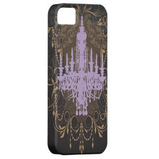steampunkのゴシックの蝶パリのヴィンテージのシャンデリア iPhone SE/5/5s ケース