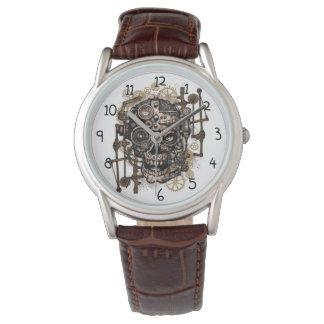Steampunkのスカルの腕時計 腕時計