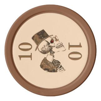 Steampunkのスカル ポーカーチップ