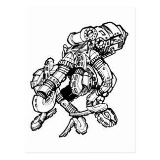Steampunkのタコ ポストカード