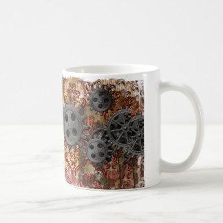 Steampunkのダマスク織 コーヒーマグカップ