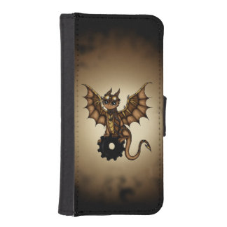 Steampunkのドラゴンの札入れの箱 iPhoneSE/5/5sウォレットケース