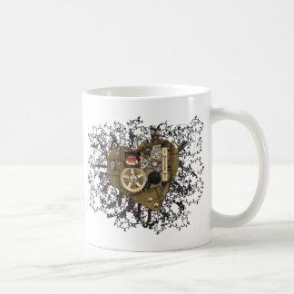 Steampunkのハート愛 コーヒーマグカップ