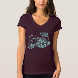 Steampunkのバクテリオファージ対細菌 Tシャツ