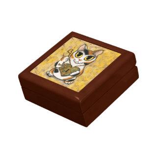 Steampunkのバレンタイン猫のハートのロケットの鍵のギフト用の箱 ギフトボックス