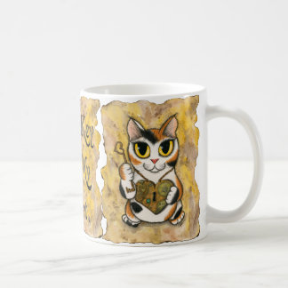 Steampunkのバレンタイン猫のハートのロケットの鍵の芸術のマグ コーヒーマグカップ